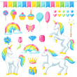 Collection of unicorns and fantasy decorative objects - 198078055