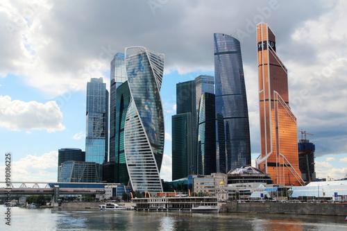 Foto op Aluminium Moskou Moscow-City business center, Russia