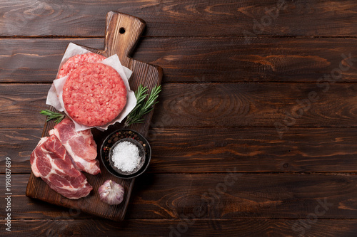 Raw minced meat cooking - 198087689