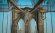Closeup of Manhattan Bridge,  New York City