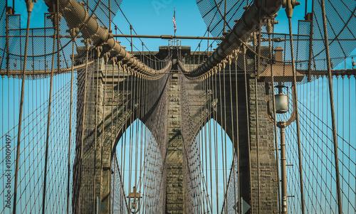 Foto op Plexiglas Brooklyn Bridge Closeup of Manhattan Bridge, New York City