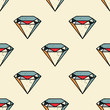 Diamond seamless pattern. Original design for print or digital media.