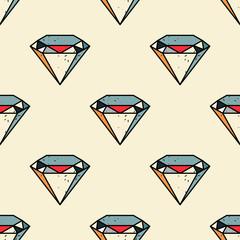 Diamond seamless pattern. Original design for print or digital media.