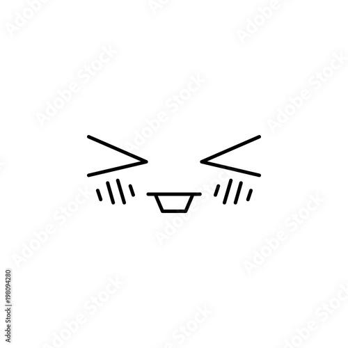 happy face emoticon kawaii style icon - 198094280