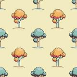 Trees seamless pattern. Original design for print or digital media.