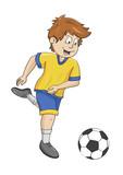 Fußball Ausmalbild koloriert