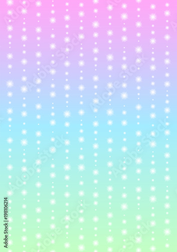 romantic sparkle abstract background, glitter star line with color gradient template, falling starry layout, vector illustration - 198106214