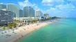 Fort Lauderdale Beach resorts spring break 2018 aerial drone video footage