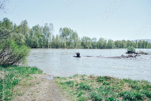 Foto op Plexiglas Lichtblauw Eastern Kazakhstan. Spring on the rivers