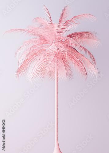 Niezwykła pastel menchii palmy 3d ilustracja