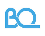 BQ initial symbol letter typography typeface typeset logotype alphabet image vector icon blue