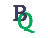 BQ initial symbol letter typography typeface typeset logotype alphabet image vector icon