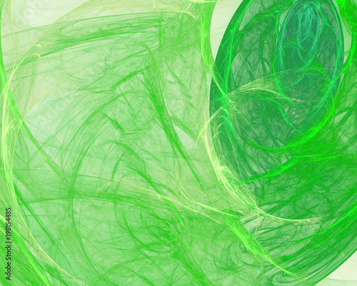 Foto op Plexiglas Abstract wave Abstract background. Fractal green veil