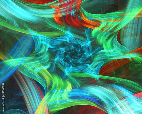 Staande foto Abstract wave Abstract background. Fractal strokes