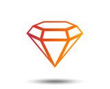 Diamond sign icon. Jewelry symbol. Gem stone. Blurred gradient design element. Vivid graphic flat icon. Vector