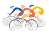 Road cycling competitors.
