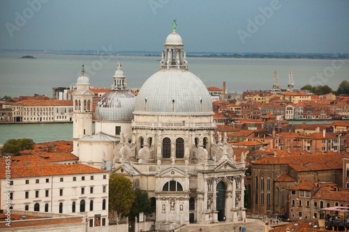 Panoramic aerial cityscape of Venice,Italy