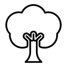 Icon  Baum Sticker