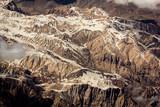 Gebirge aus dem Flugzeug aufgenommen