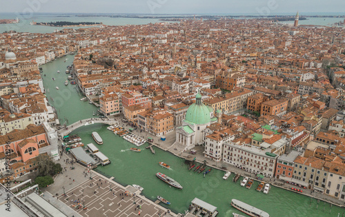 In de dag Venetie Aerial view of Venice and its Grand canal
