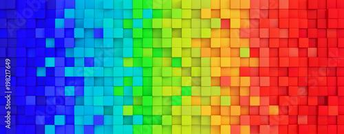 Colored rainbow panorama of cubes © Daniel