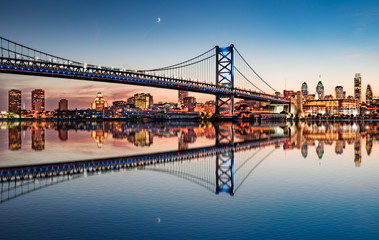 Philadelphia Night Skyline Refection © pabrady63