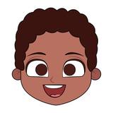 Cute boy cartoon vector illustration graphic design