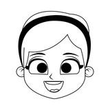 Cute girl cartoon vector illustration graphic design