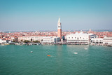 Panoramic view of Saint Mark's square in Venice, Italy.