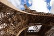 Eiffel Tower in Paris against the blue sky