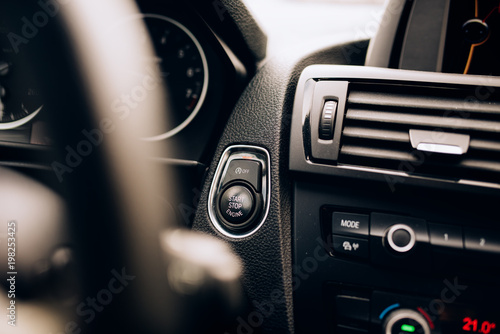 Car ignition detail - hybrid car with modern technology equipment © Hoda Bogdan