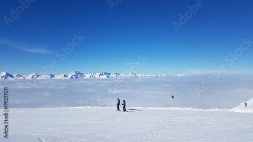 Fotobehang Blauw Winter