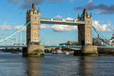 Sunset view of Tower Bridge in London, England, Great Britain