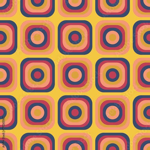 Fototapeta Vintage seventies seamless pattern. Authentic design for digital and print media.