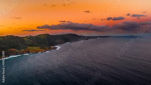 Foto op Plexiglas Oranje eclat Sunset over the Coast