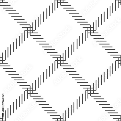 Black and white cage seamless pattern. vector - 198275864