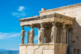 The Porch of the Caryatids at the Erechtheion temple on the Acropolis, Athens, Greece - 198276815