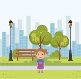 little girl in the park avatar character