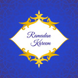 Greeting card, invitation for Muslim community holy month Ramadan Kareem.