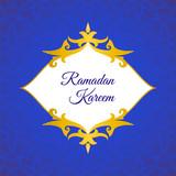Greeting card, invitation for Muslim community holy month Ramadan Kareem.