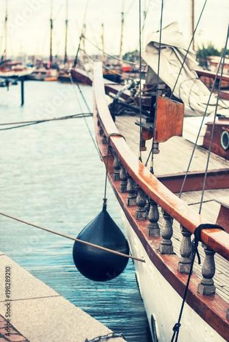 Foto op Plexiglas Schip Old yacht at the pier, Helsinki, Finland