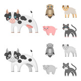 Forest, ecology, toys and other web icon in cartoon,monochrome style.Animals, farm, enterprises icons in set collection.