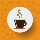 Flat Design A Cup of Coffee. Vector, illustration eps10