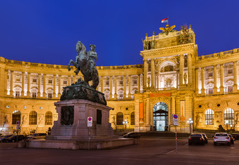 Hofburg palace in Vienna Austria