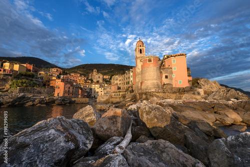 Fotobehang Liguria Tellaro Village at Sunset - Liguria - Italy
