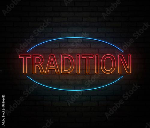 Neon tradition concept.