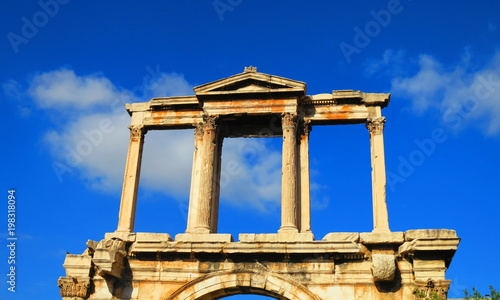 Foto op Plexiglas Athene Gate of Hadrian monument in Athens