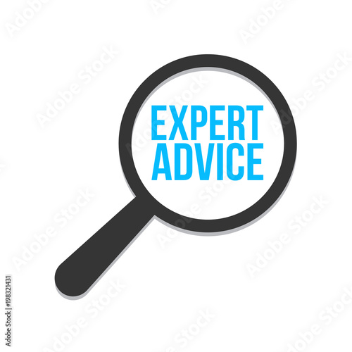 Expert Advice Word Magnifying Glass
