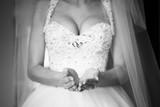Bride throwing up wedding rings