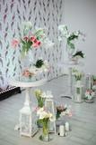 Indoors wedding decoration elements